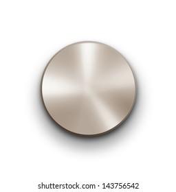 Volume knob over white