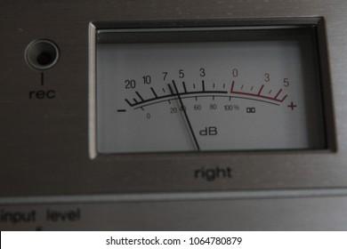 Volume level decibel