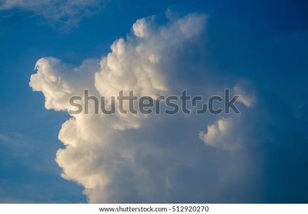 Volumetric Clouds Sunset Stock Photo (Edit Now) 512920270