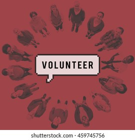 Volunteer Social Support Help Service Concept