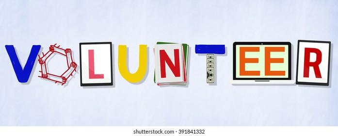 Volunteer Support Community Work Concept