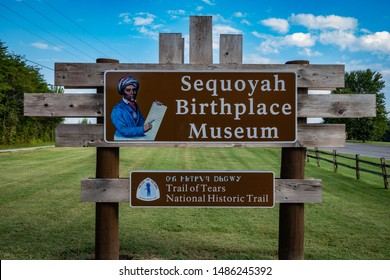 Vonore, Tennessee / USA - 8-23-2019 - Sequoyah Birthplace Museum