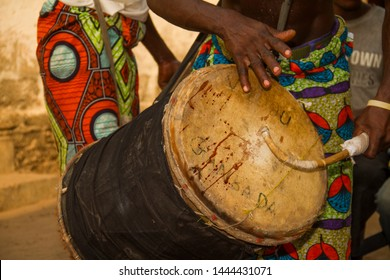 voodoo ceremony drum in Benin