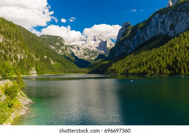 Vorderer Gosausee under Dachstein mountain, Salzkammergut, Austrian Alps, Austria