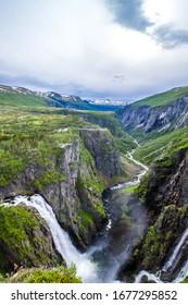 Wasserfall Voringsfossen und Mabodalen in Norwegen
