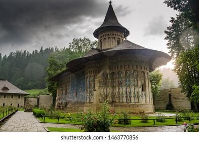 Voronet church in Moldova, Romania