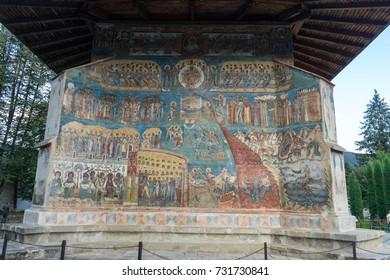 Voronet Monastery in Bucovina, Romania
