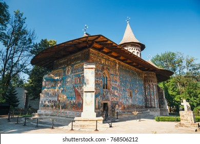 Voronet Monastery is a famous painted monastery in Romania