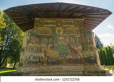 The Voronet Monastery - one of the famous painted monasteries in Romania.