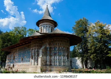 """Voronet Monastery with the well-known """"blue by Voronet"""""""