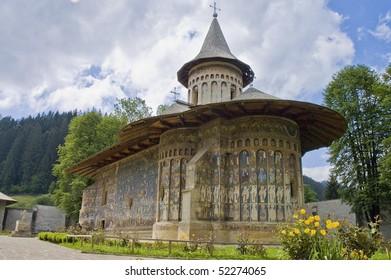 Voronet, painted monastery of northern Romania