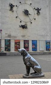 Voronezh, Voronezh Region, Russia - September, 2013: White Beam Monument. It is one of the main symbols of Voronezh.