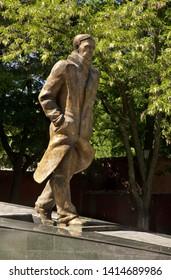 VORONEZH. RUSSIA. 19 MAY 2019 : Monument to Andrei Platonov in Voronezh. Russia