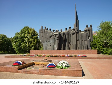 VORONEZH. RUSSIA. 19 MAY 2019 : Monument to Unknown soldier in Voronezh. Russia