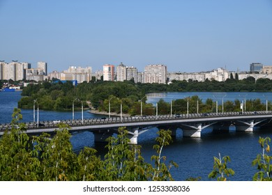 Voronezh, Russia - August 23. 2018. View of Chernavsky Bridge over the Voronezh River