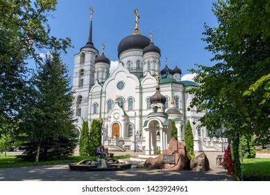 Voronezh, Russia - August 4, 2018: Blagoveshchensk cathedral in the center of Voronezh