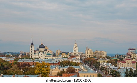 Voronezh, Russia - Circa October 2018 : Voronezh downtown, modern and historic buildings