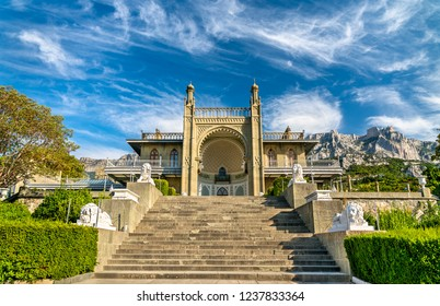 The Vorontsov Palace in Alupka, a major tourist destination in Crimea