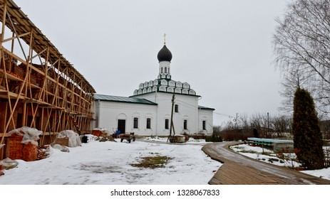 Vorsma, Russia - January 3, 2018: Trinity Ostrovoezersky Convent