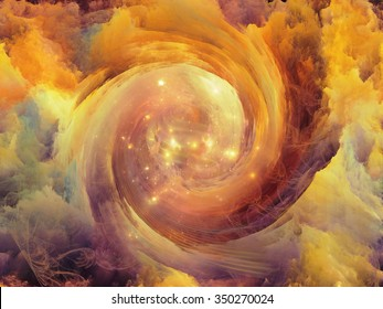 Vortex Dreams series. Abstract design made of Fractal three dimensional spiral texture on the subject of science, mathematics and forces of nature