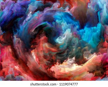 Vortex Twist and Swirl series. Design made of color and movement on canvas to serve as backdrop for projects related to art, creativity and imagination