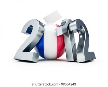 vote 2012 france on a white background