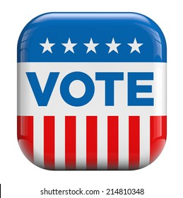 Vote American flag isolated icon.