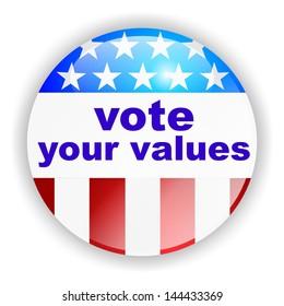 vote badge, vote your values