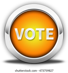 vote button isolated. 3D illustration