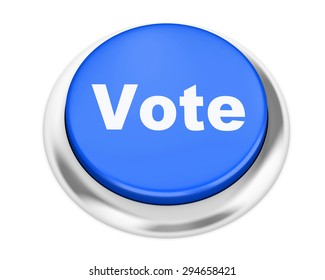 vote button on isolate white background
