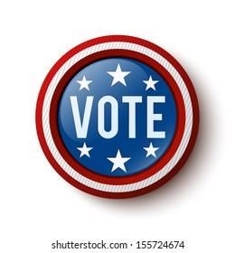 Vote button. United States Election