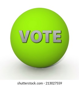 Vote circular icon on white background