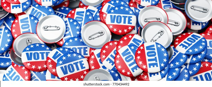 vote election on a white background 3D illustration, 3D rendering