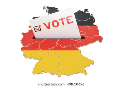 Vote in Germany, German election concept, 3D rendering isolated on white background