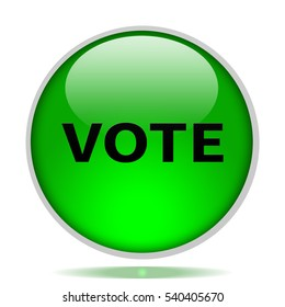 vote icon. Internet button.