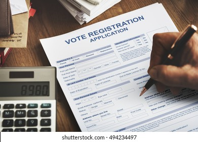 Vote Registration Application Election Concept
