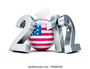 vote usa 2012 on a white background
