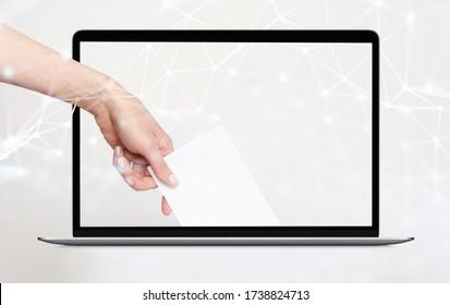 Scrutin d'électeur pour la boîte électronique de vote à distance dans un ordinateur portable