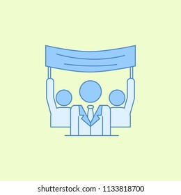 voter propaganda field outline icon. Element of elections icon for mobile concept and web apps. Field outline voter propaganda icon can be used for web and mobile on colored background