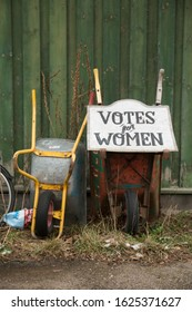 Votes for Women Sign in Wheelbarrow