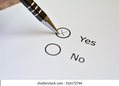 Voting for Yes or No