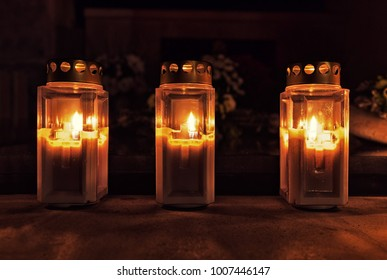 Votive Candles at All Saint's Day
