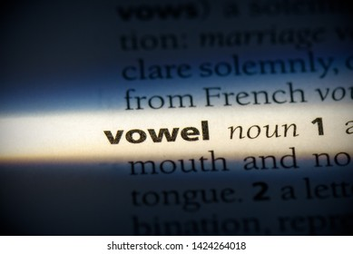 vowel word in a dictionary. vowel concept, definition.