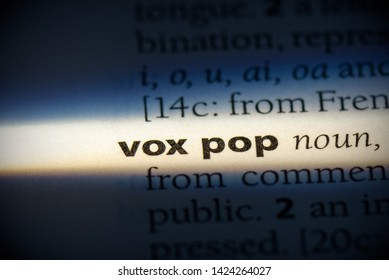 vox pop word in a dictionary. vox pop concept, definition.