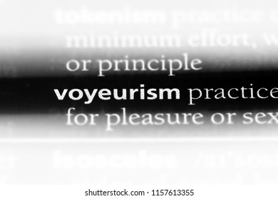 voyeurism word in a dictionary. voyeurism concept.