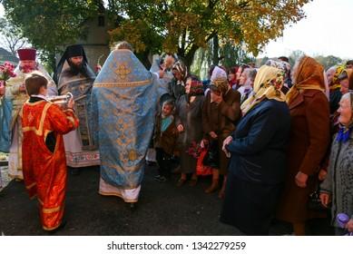 Voyutyn, Volyn / Ukraine - October 14 2008: Slavonic Religious celebration Pokrov