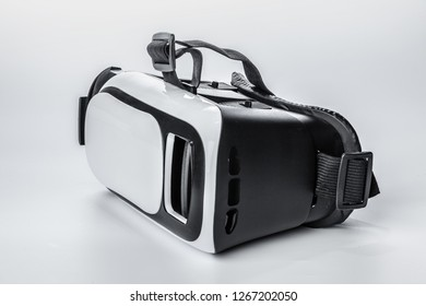 VR. Virtual reality glasses on white background