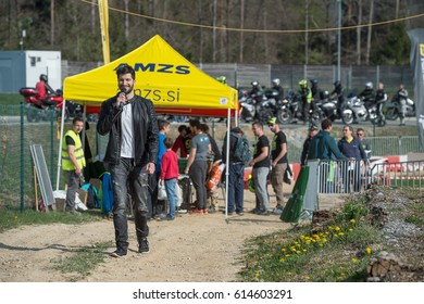 Vransko, Slovenia, April 02, 2017: Cross Country competition within the Automobile Association of Slovenia (AMZS) Vransko, Slovenia.