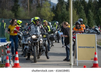 Vransko, Slovenia, April 02, 2017: Cross Country competition within the Automobile Association of Slovenia (AMZS) Vransko, Slovenia.