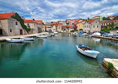 Vrboska dalmatian village in Hvar, Croatia